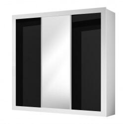 Armoire design 3 portes noire et blanche Thalis