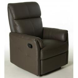 Fauteuil de relaxation 100 % cuir semi-automatique avec repose-pieds intégré LUXO