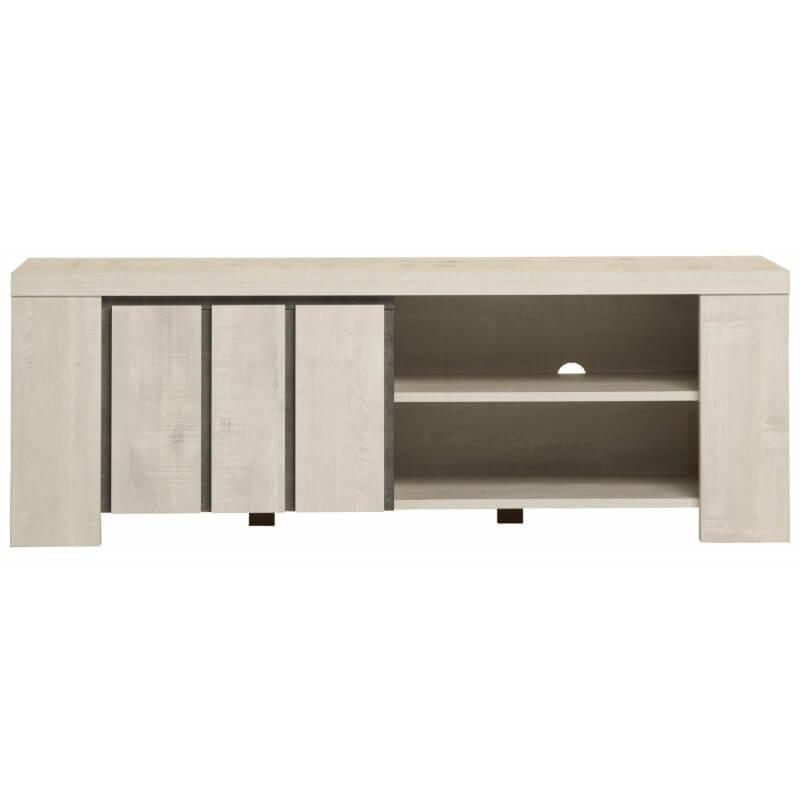 meuble tv contemporain ch ne blanchi edwige. Black Bedroom Furniture Sets. Home Design Ideas