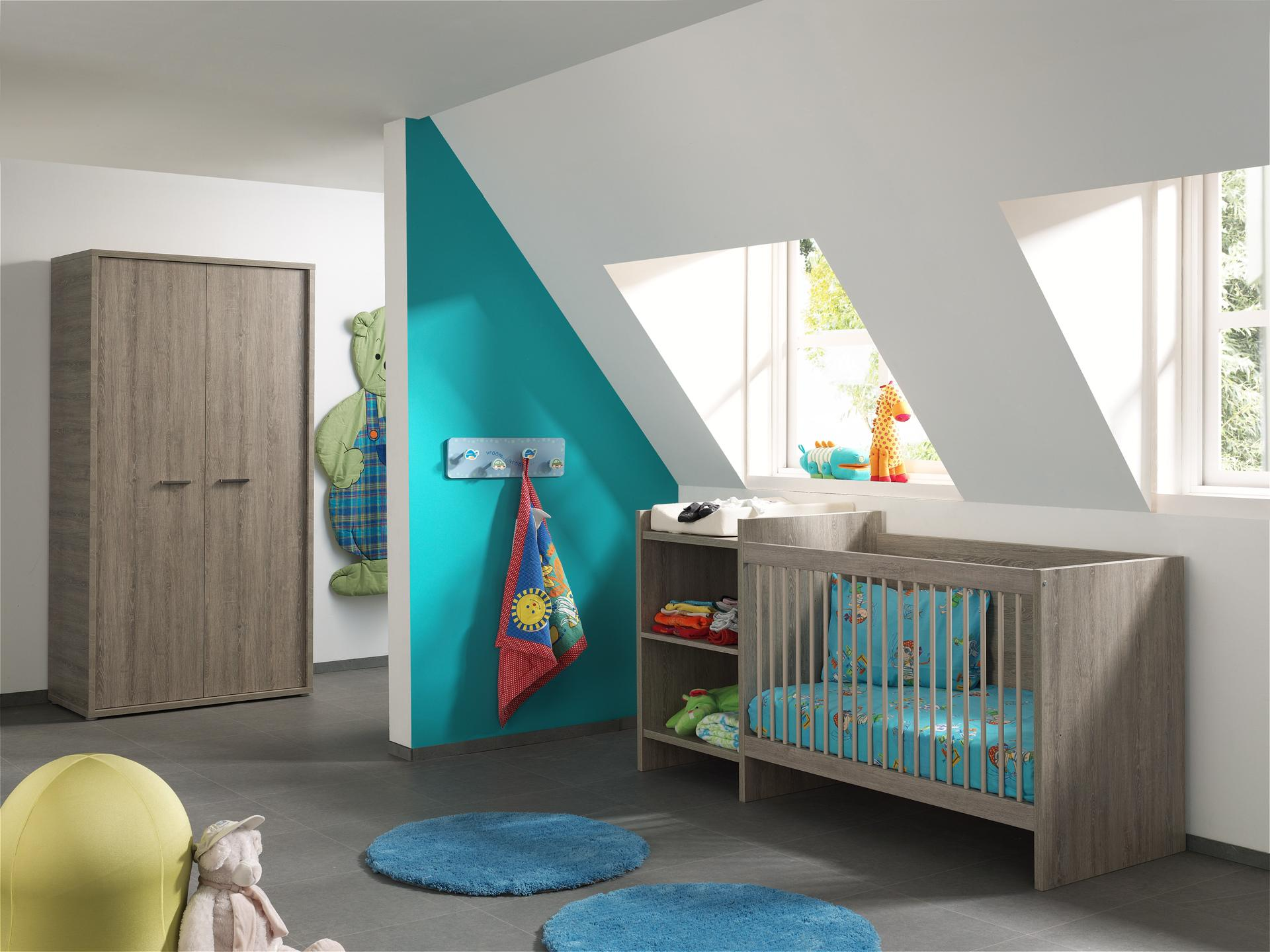 Chambre bébé contemporaine chêne espagnol Travis II