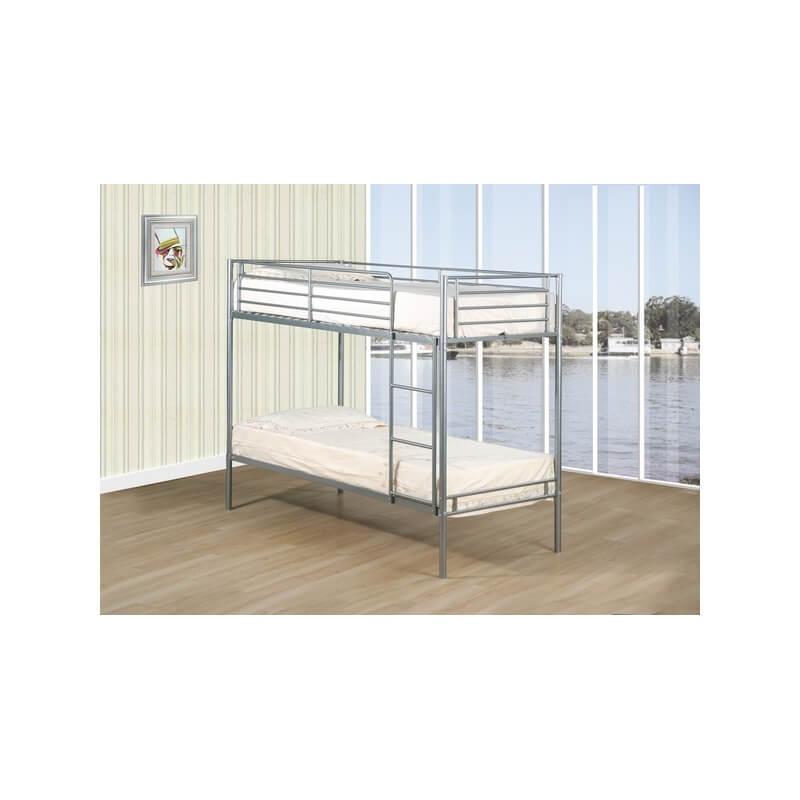 lits superpos s en m tal coloris aluminium safran matelpro. Black Bedroom Furniture Sets. Home Design Ideas