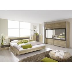 Chambre adulte contemporaine chêne clair/gris Venilia II