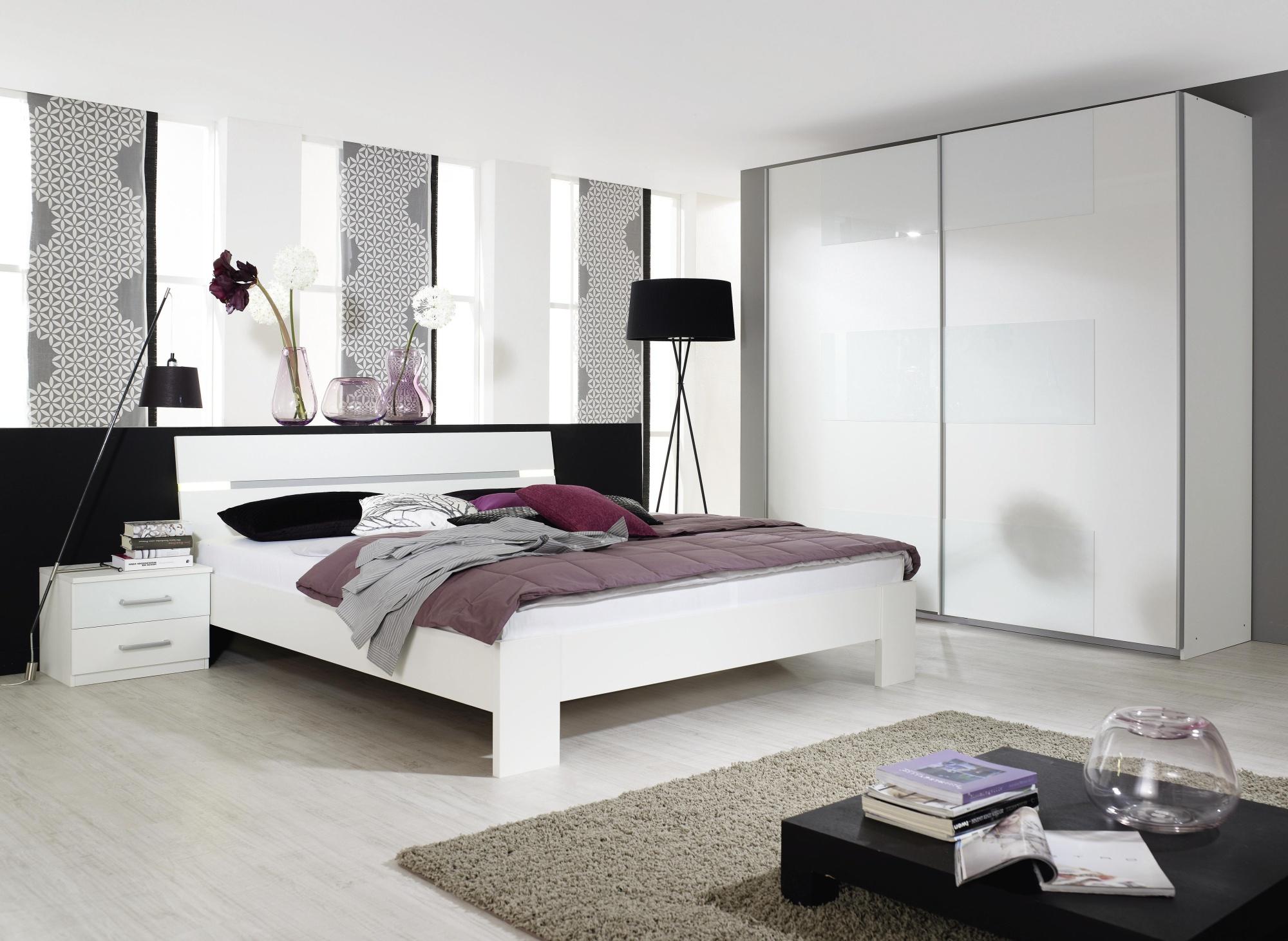 chambre adulte complète design coloris blanc tornado | matelpro