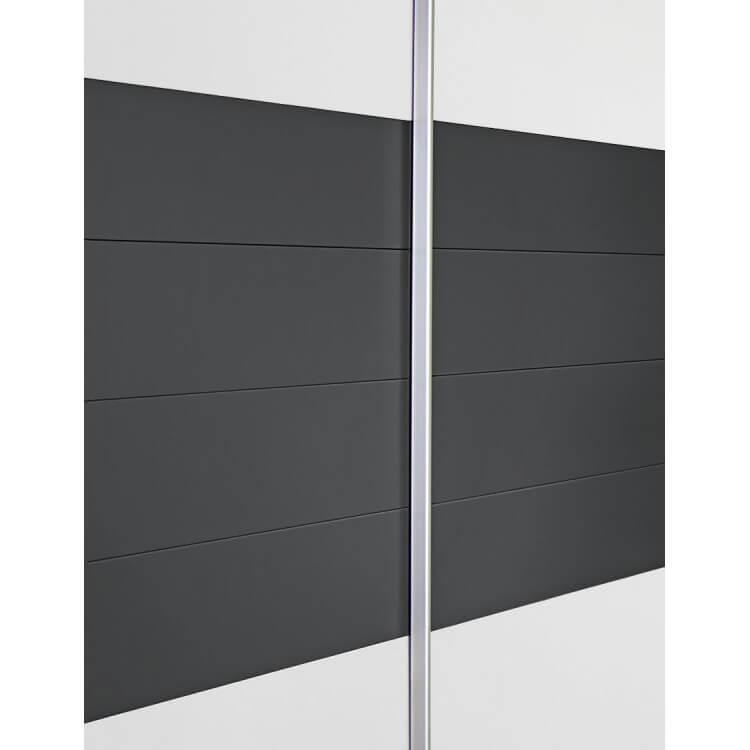 Armoire design 2 portes coulissantes coloris blanc gris barcelone matelpro - Armoire 2 portes coulissantes blanc ...