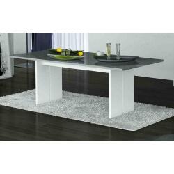 Table de salle à manger design laquée blanche/grise Kyline