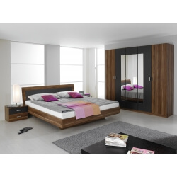 Chambre adulte contemporaine coloris prunier/gris Reveries