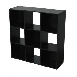 Etagère contemporaine 9 casiers coloris noir Module