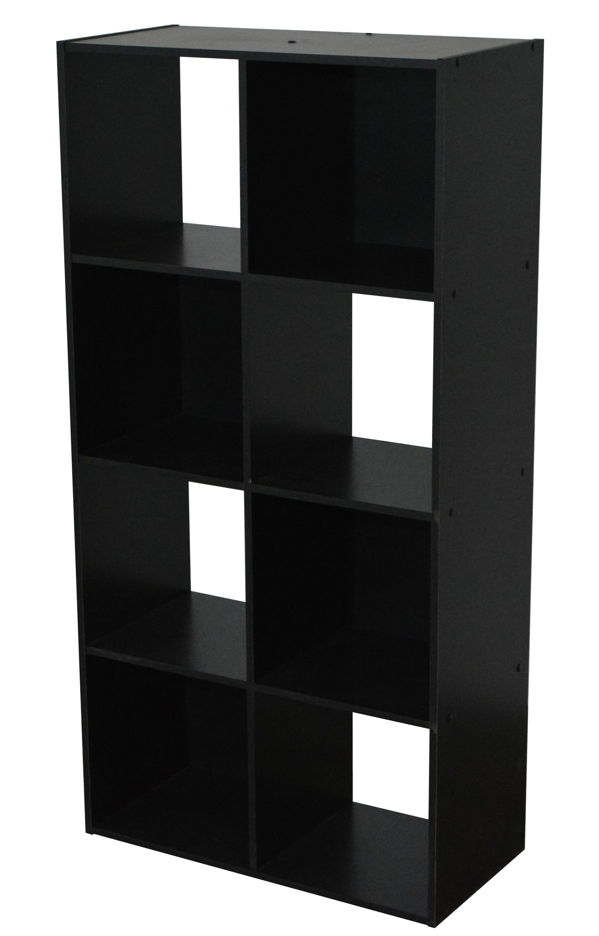 Etagère contemporaine 8 casiers coloris noir Module