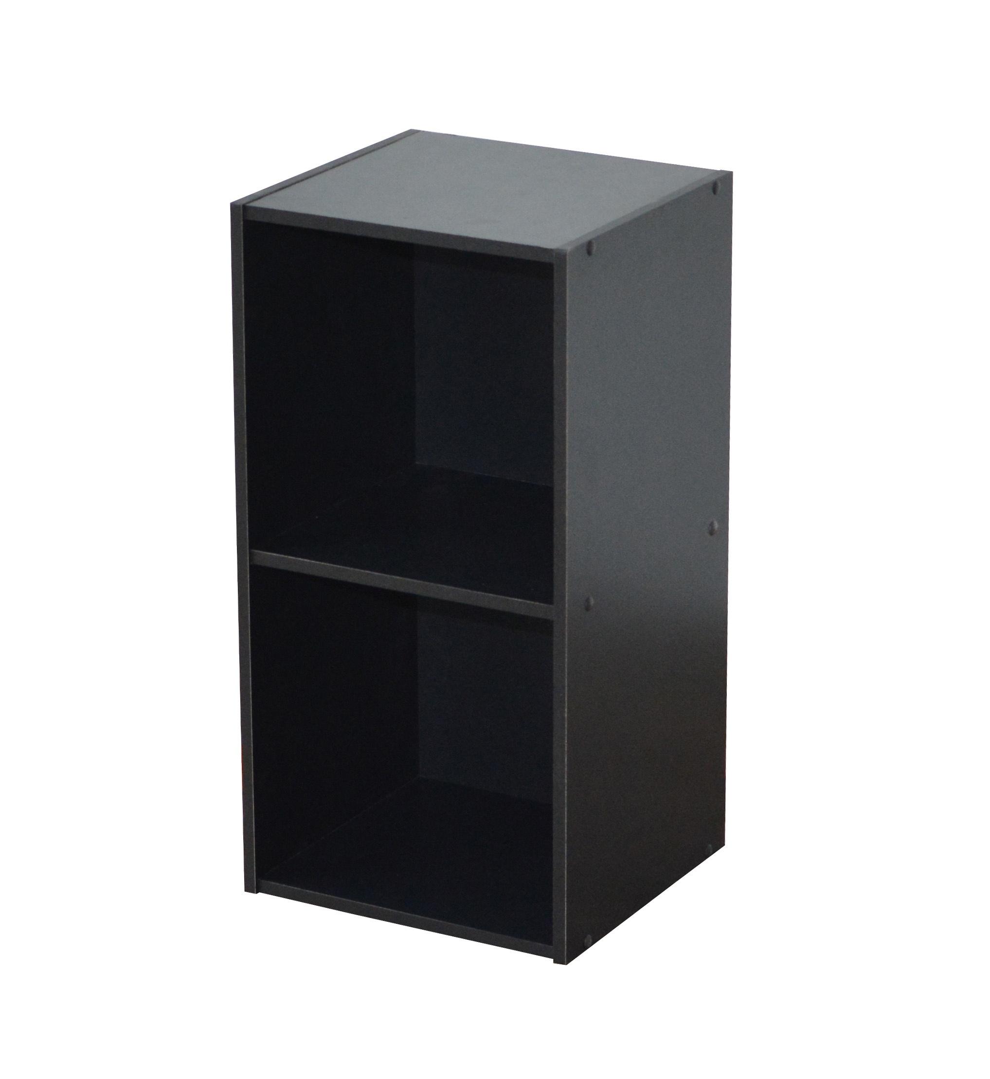 Etagère contemporaine 2 casiers coloris noir Module