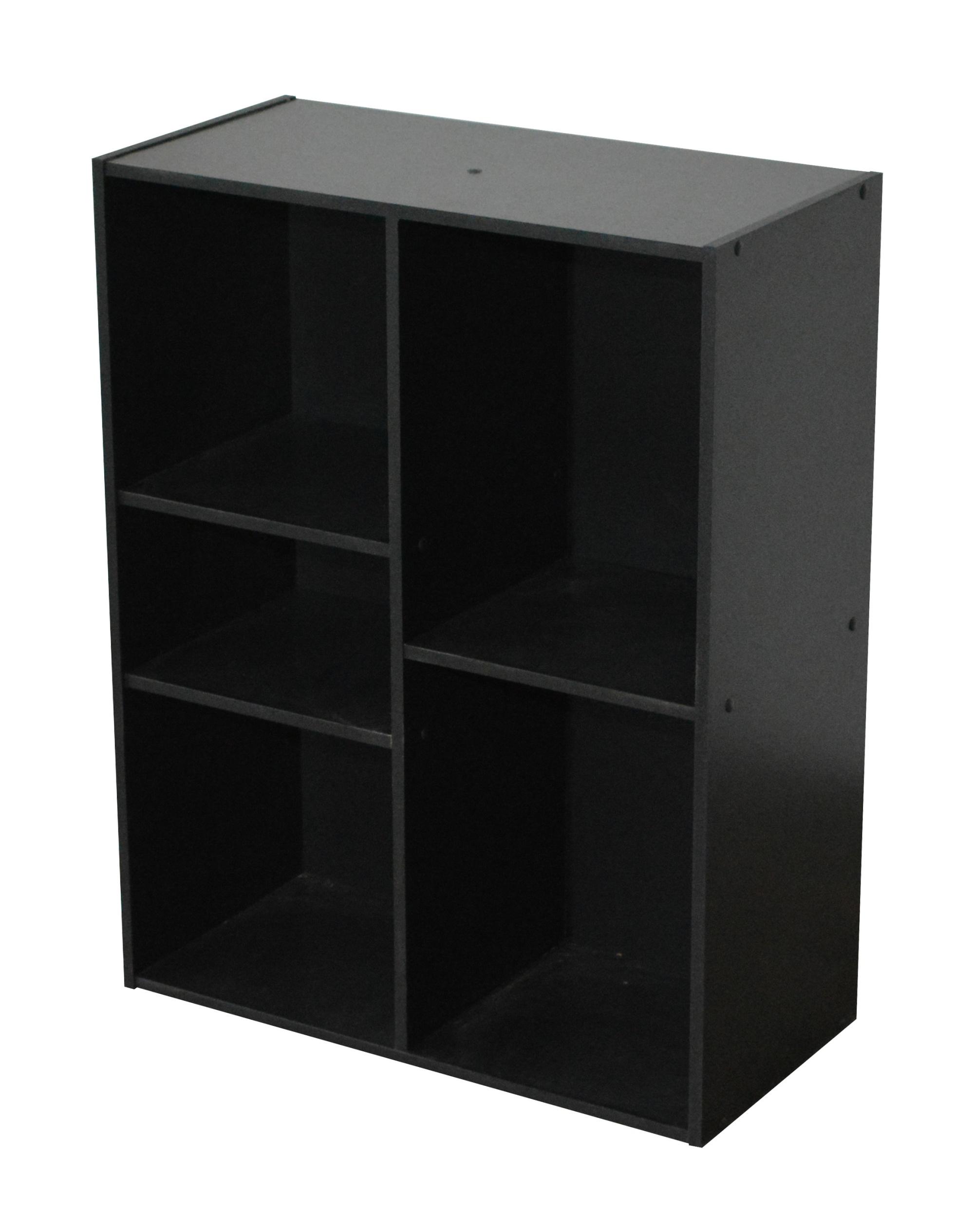 Etagère contemporaine 5 casiers coloris noir Module