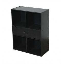 Etagère contemporaine 4 casiers/1 tiroir coloris noir Module