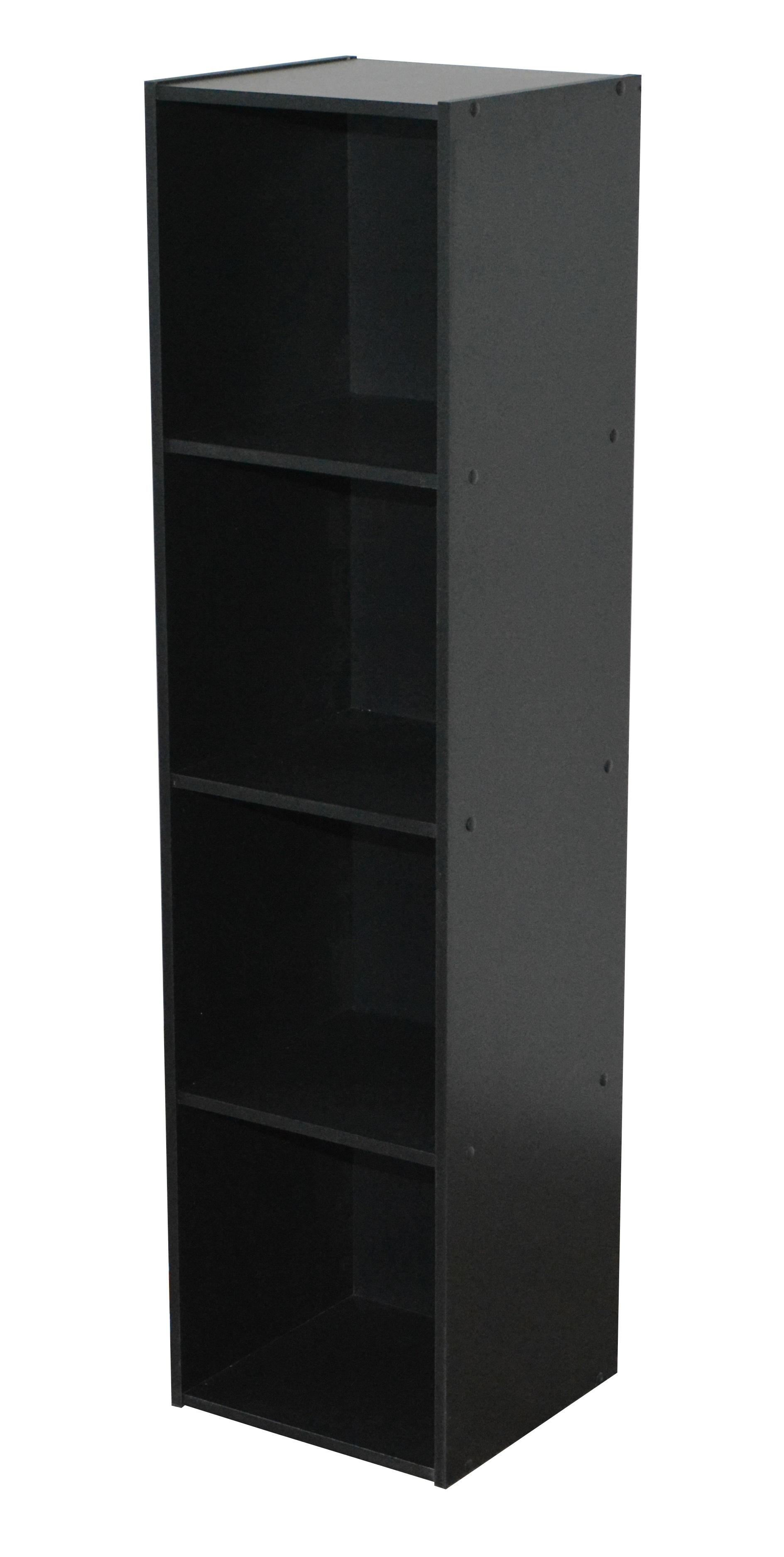 Etagère contemporaine 4 casiers coloris noir Module II