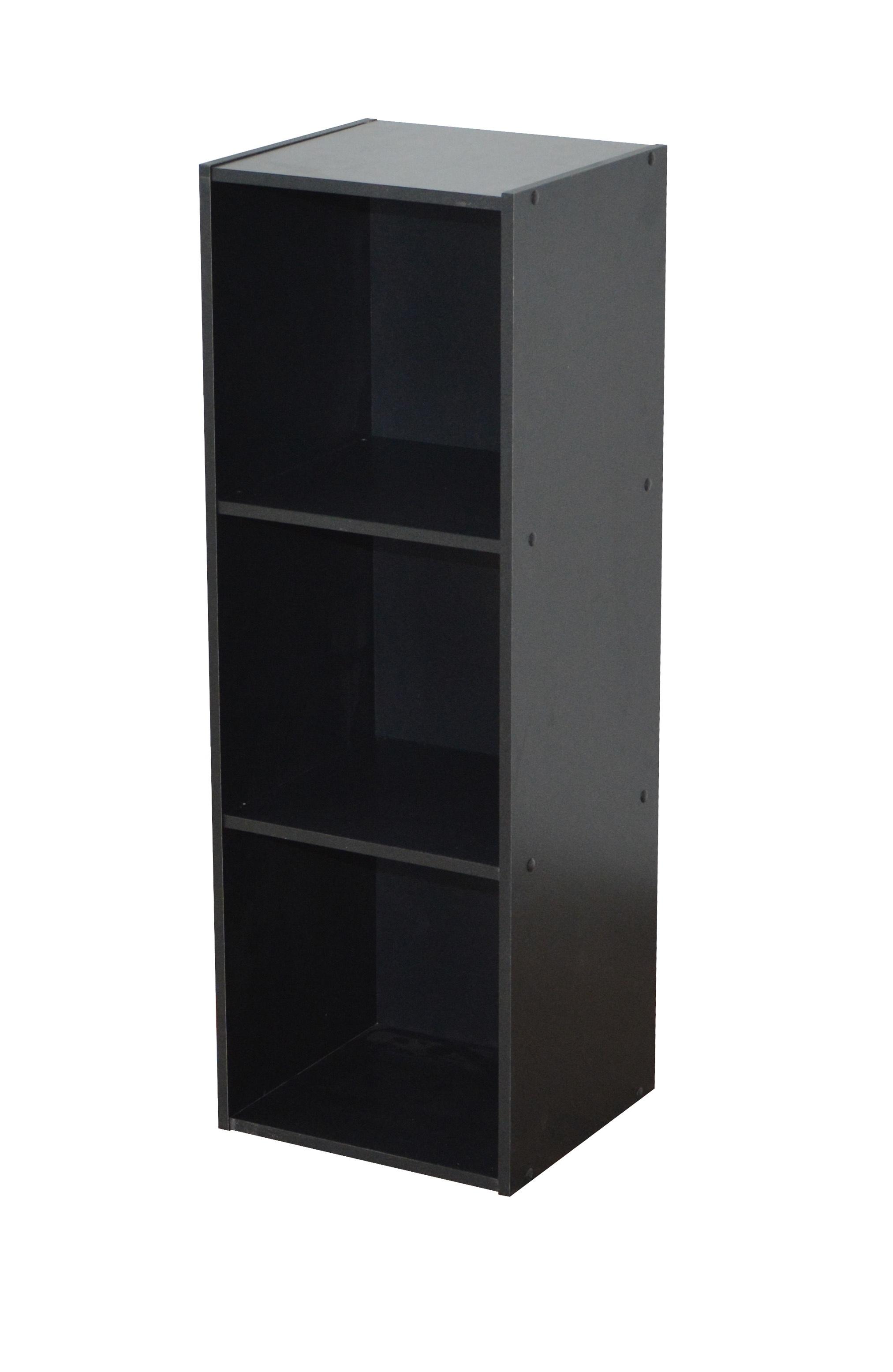 Etagère contemporaine 3 casiers coloris noir Module