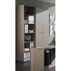 Armoire de bureau contemporaine 2 portes chêne espagnol Elano II