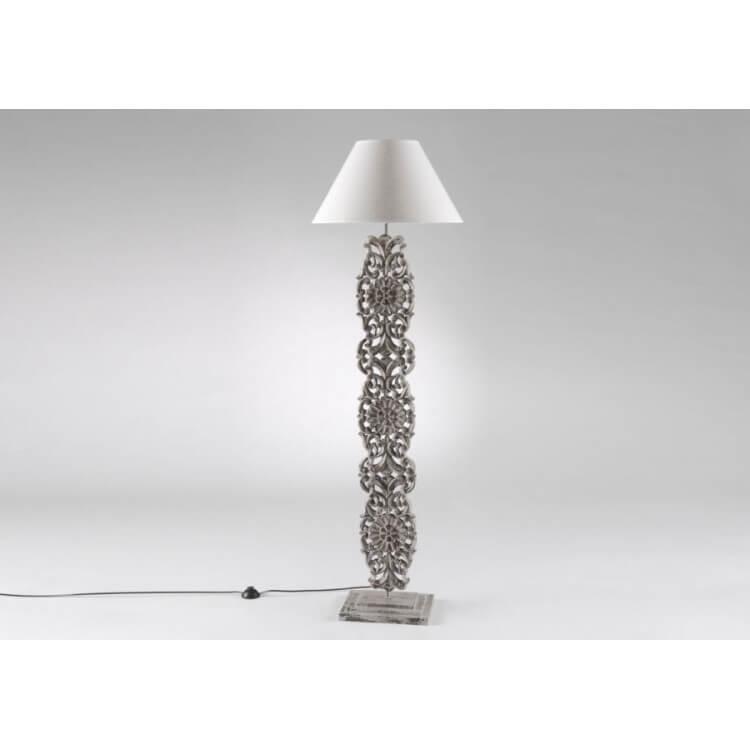 Lampe de lecture sur pied en bois FLORALINE
