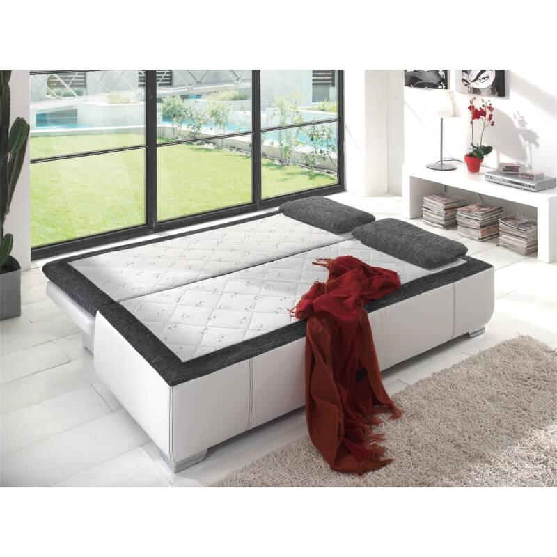 canap convertible design coloris blanc gris jango. Black Bedroom Furniture Sets. Home Design Ideas