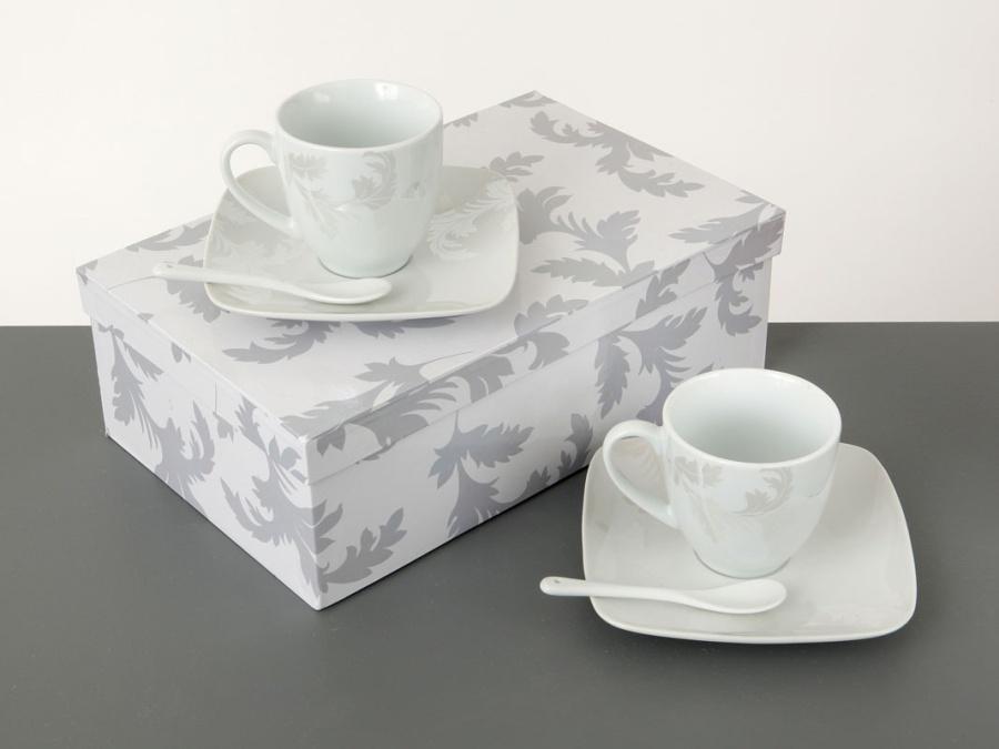 Coffret 2 tasses à café PLUME DE NACRE