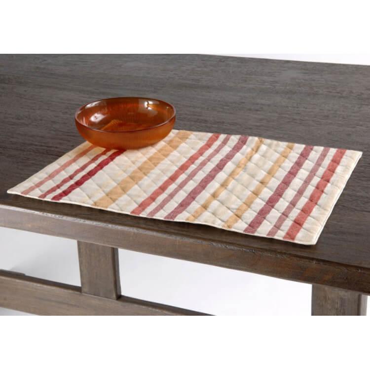 Lot de 2 sets de table rectangulaires 49 x 34 cm RAYURES D'AUTOMNE