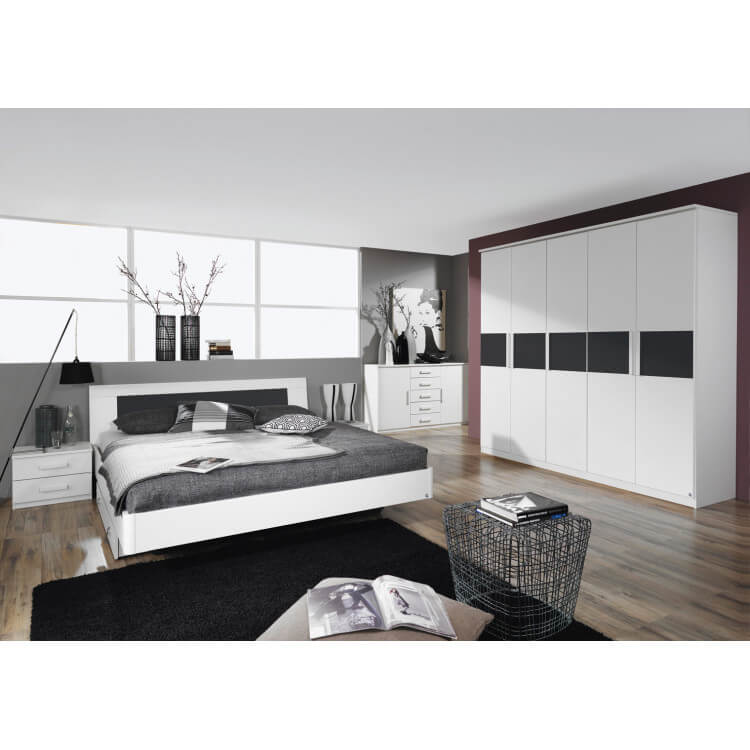 Chambre adulte design blanche Carcassonne | Matelpro