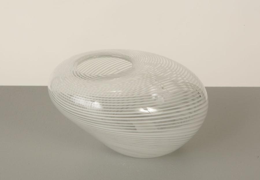 Vase en verre LIGNES BLANCHES