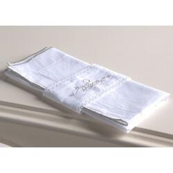 Lot de 2 serviettes de table 44 x 44 cm avec anneau ADELAIDE