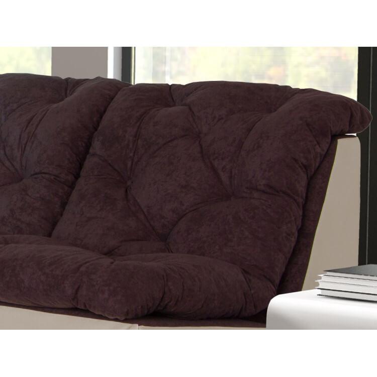 canap d 39 angle modulable en tissu chocolat ivoire gisela matelpro. Black Bedroom Furniture Sets. Home Design Ideas
