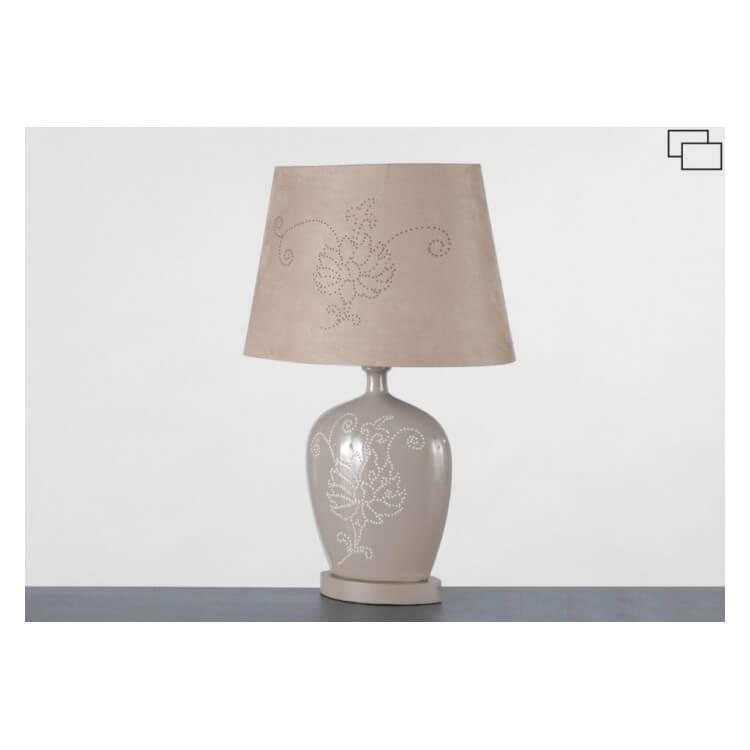 Lampe à poser céramique CUTTING FLORAL