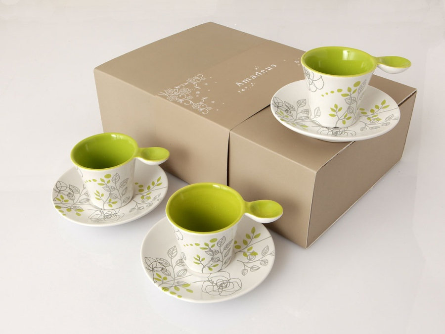 Coffret 6 tasses expresso INSPIRATION VEGETALE