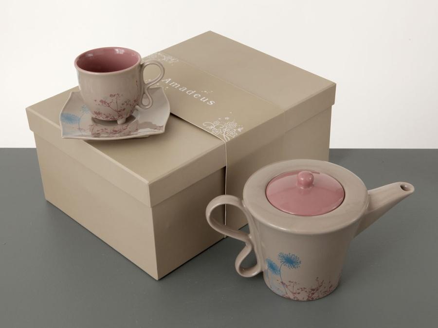 Théière & tasses à thé DOUCEUR MATINALE