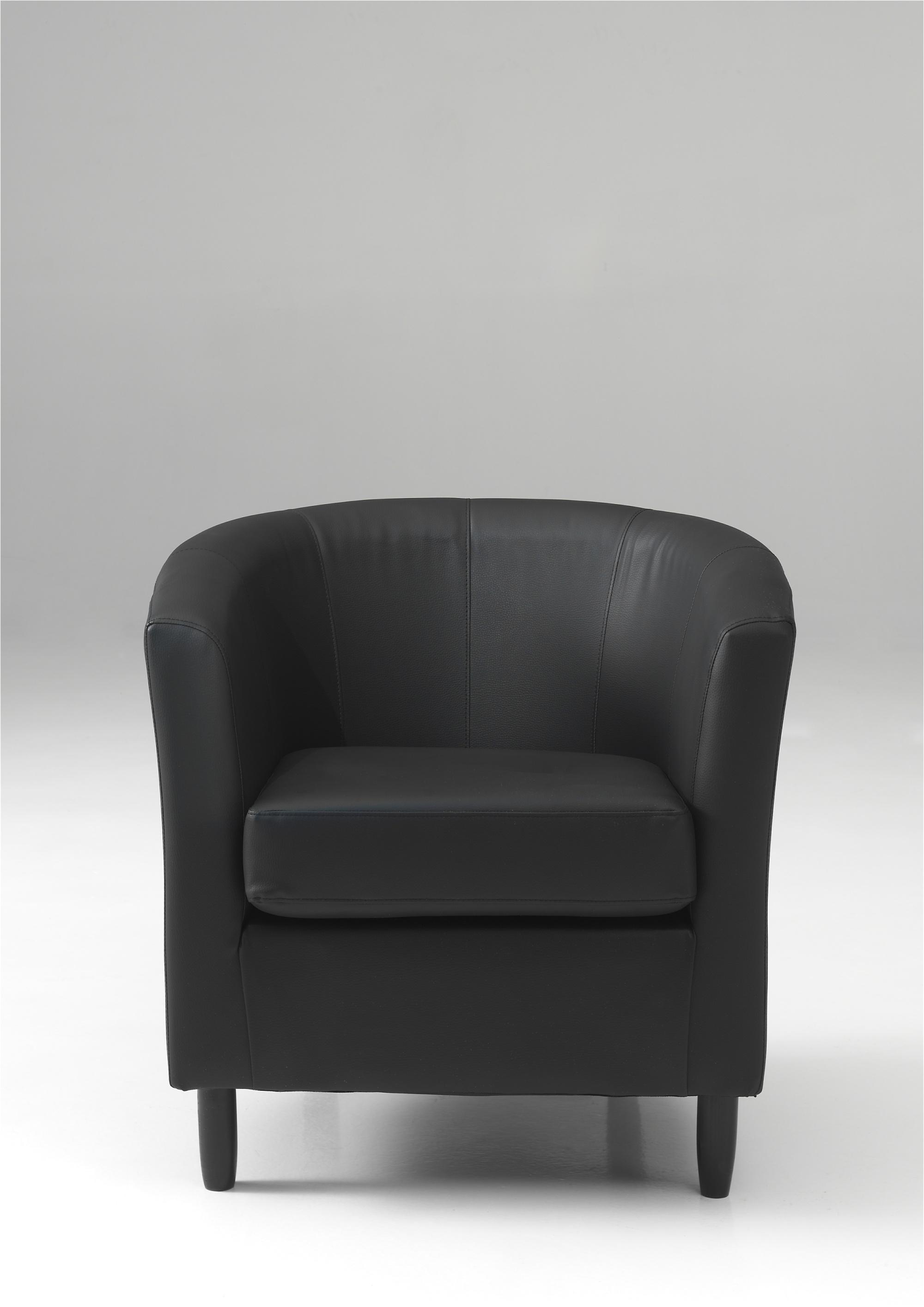Fauteuil cabriolet en PU coloris noir Caurel