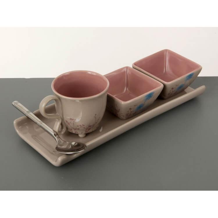 Plateau tasse à café gourmand DOUCEUR MATINALE
