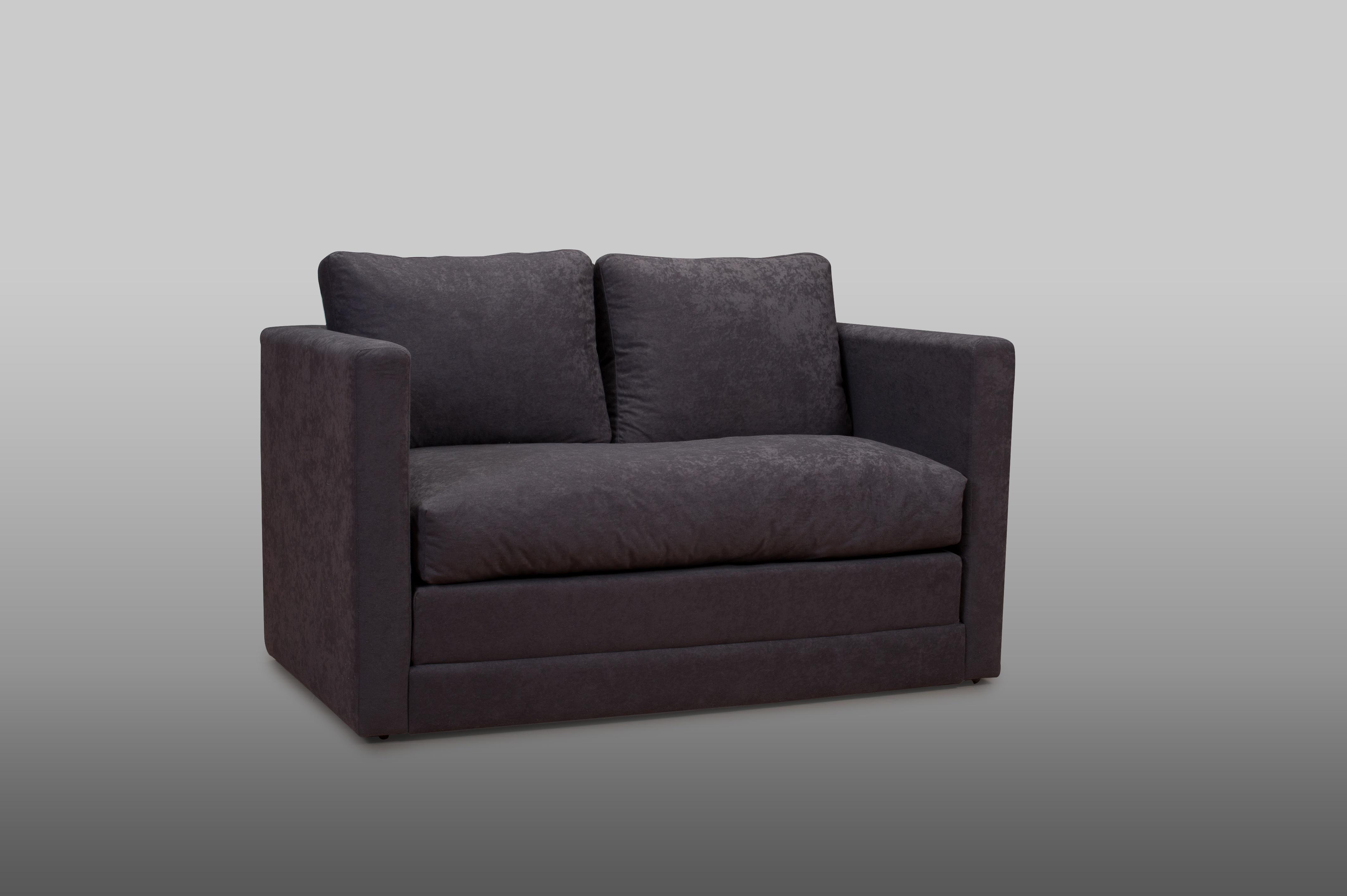 Canapé convertible déplimousse coloris noir Sully