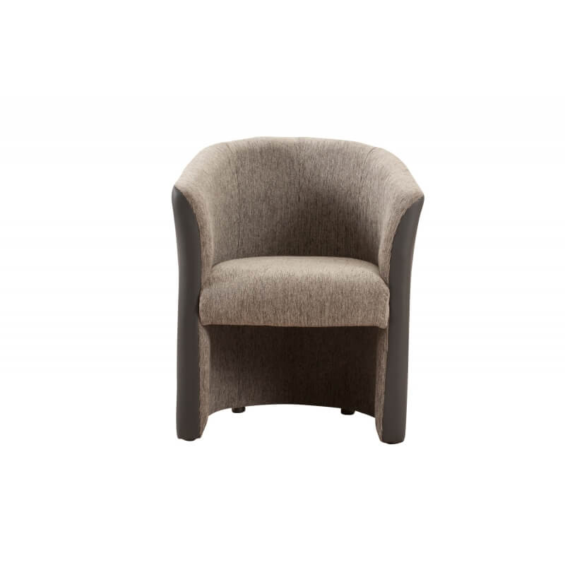 fauteuil cabriolet tissu coloris gris clair gris fonc dolly matelpro. Black Bedroom Furniture Sets. Home Design Ideas