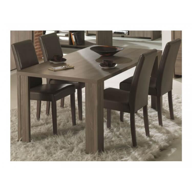 Table de salle à manger contemporaine chêne ethnique Hondo