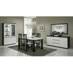 Salle A Manger Laquee Blanche Noire Table A Manger Laque
