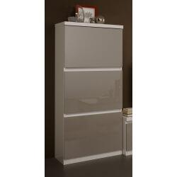 Colonne design 1 porte laquée blanche et grise Jewel