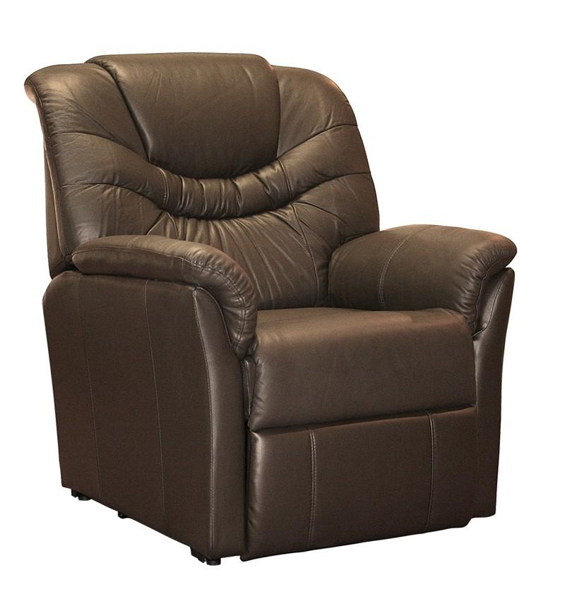 Fauteuil de relaxation cuir électrique releveur avec repose-pieds intégré  ERGORELAX
