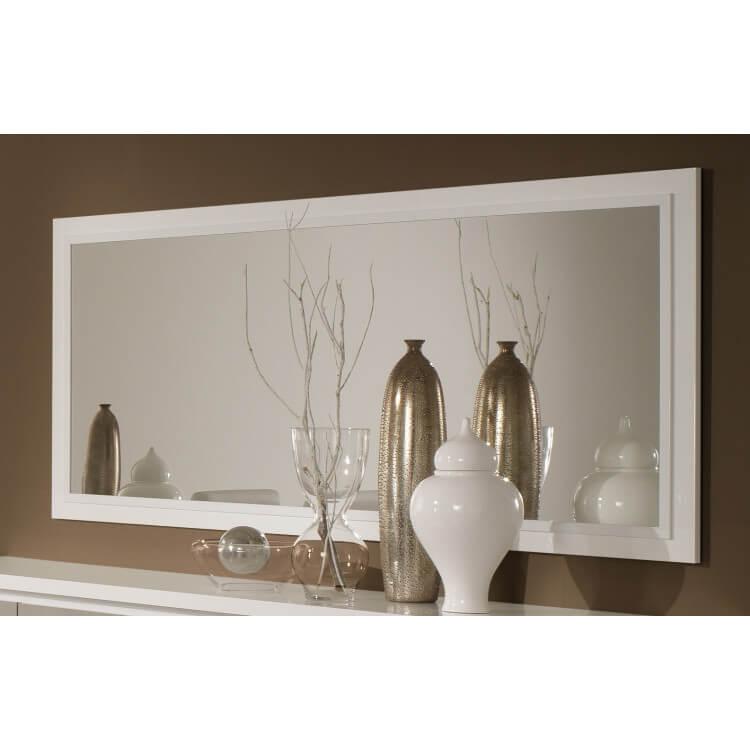 miroir de salle manger design 140 cm laqu blanc jewel. Black Bedroom Furniture Sets. Home Design Ideas