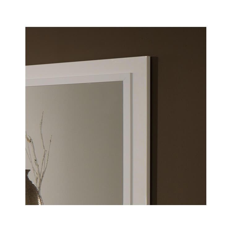 miroir de salle manger design 140 cm laqu blanc jewel matelpro. Black Bedroom Furniture Sets. Home Design Ideas