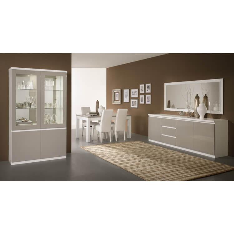 miroir de salle manger design 180 cm laqu blanc jewel. Black Bedroom Furniture Sets. Home Design Ideas