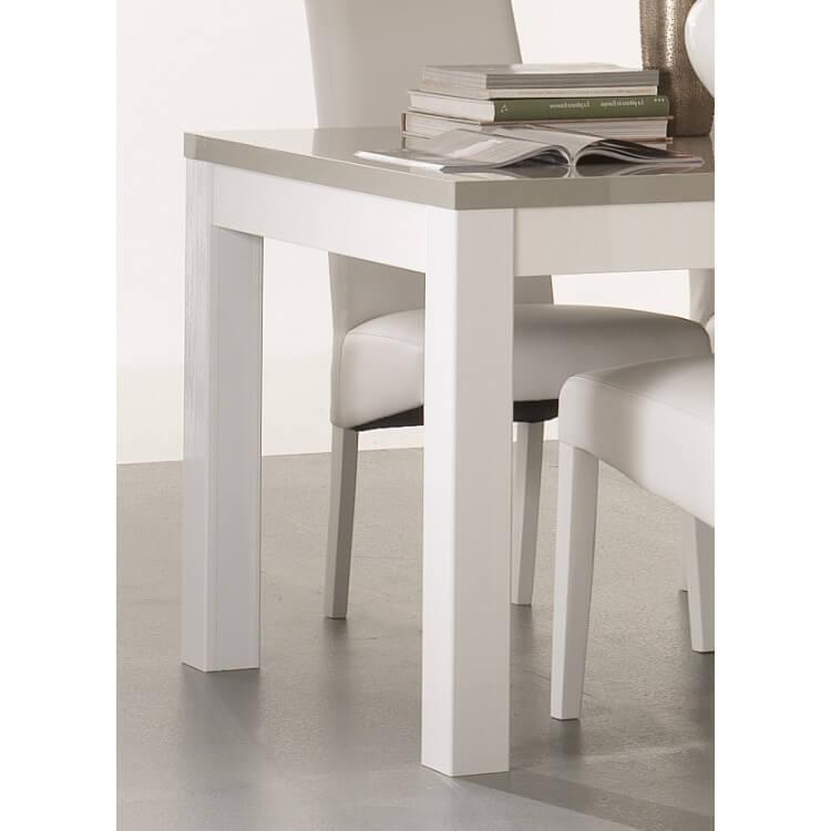 Table De Salle à Manger Design Laquée Blanche Et Grise