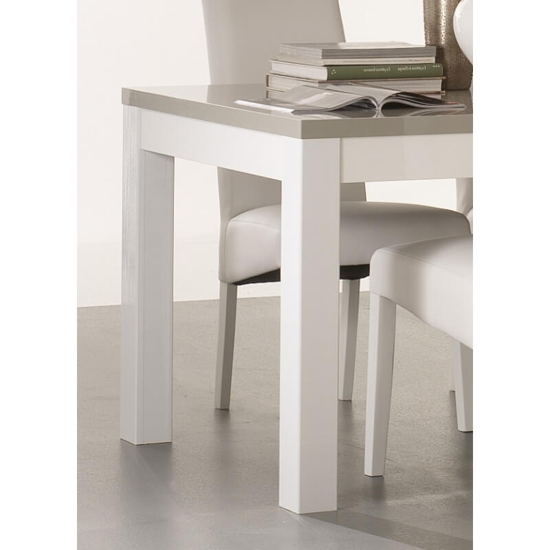 table de salle manger design laqu e blanche et grise jewel matelpro. Black Bedroom Furniture Sets. Home Design Ideas