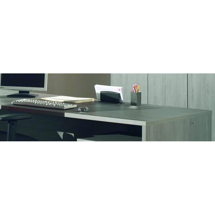 Bureau d'angle contemporain coloris bouleau gris Alrun