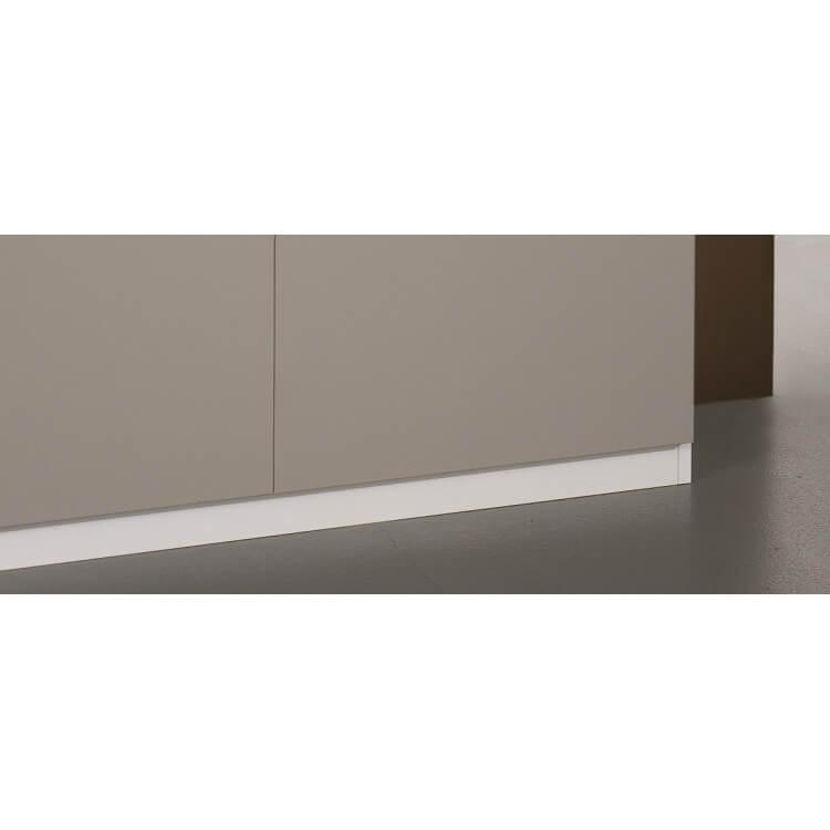 Salle à manger design laquée blanche et grise Jewel