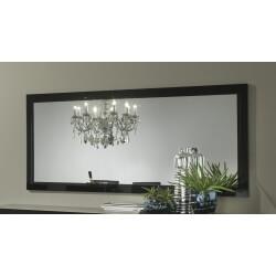 Miroir de salle à manger 140 cm laqué noir Solene