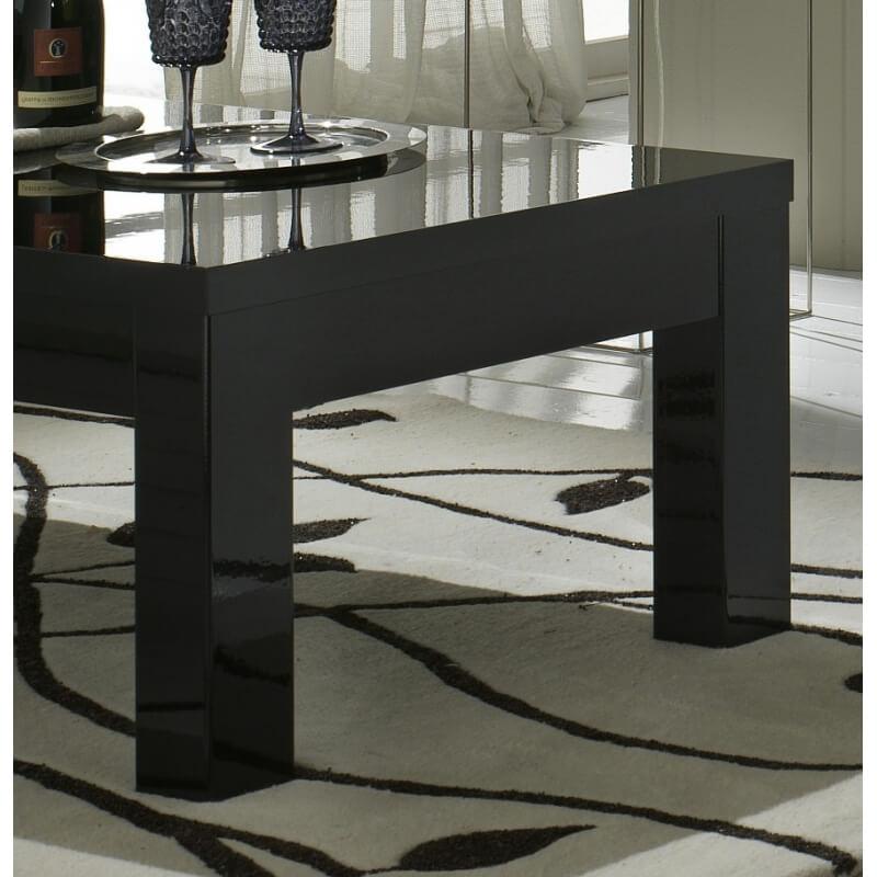 table basse rectangulaire design laqu e noire solene matelpro. Black Bedroom Furniture Sets. Home Design Ideas
