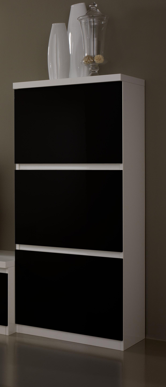 Colonne 1 porte design laquée blanche et noire Loana