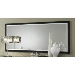 Miroir rectangulaire de salle à manger design 140 cm laqué blanc et noir Krista