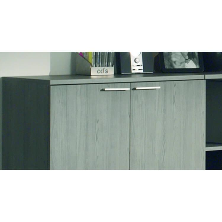 Ensemble de bureau contemporain coloris bouleau gris Alrun