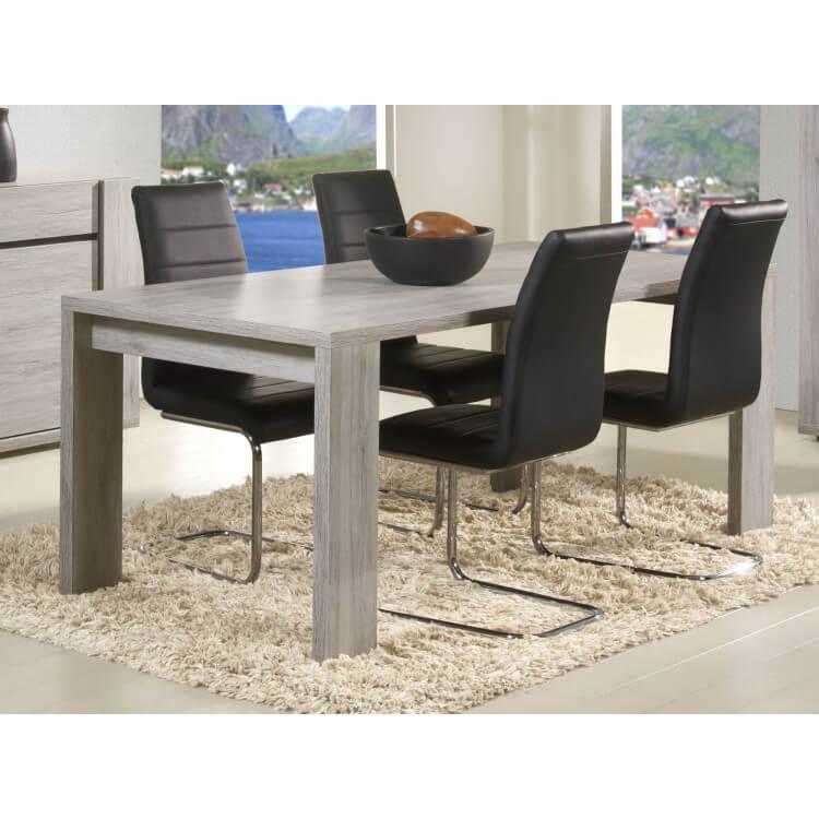 Table de salle à manger 190 cm contemporaine chêne clair Jerrico